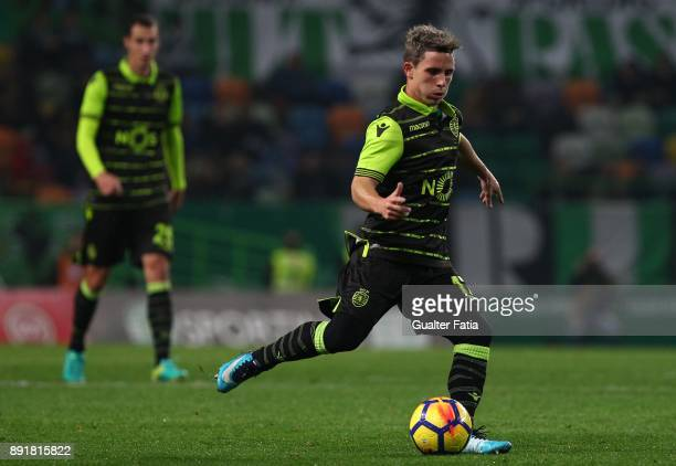 Sporting CP forward Daniel Pondence from Portugal in action during the Portuguese Cup match between Sporting CP and Vilaverdense at Estadio Jose...