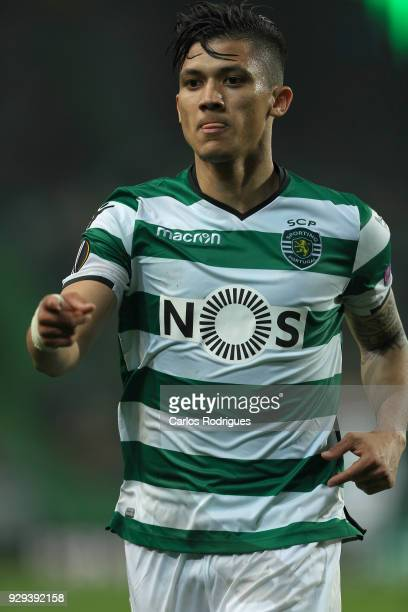 Sporting CP forward Freddy Montero from Colombia celebrates scoring Sporting second goal during the match between Sporting Lisbon CP v FC Viktoria...
