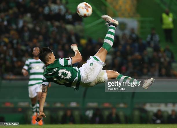 Sporting CP forward Fredy Montero from Colombia in action during the UEFA Europa League Round of 16 First Leg match between Sporting CP and FC...