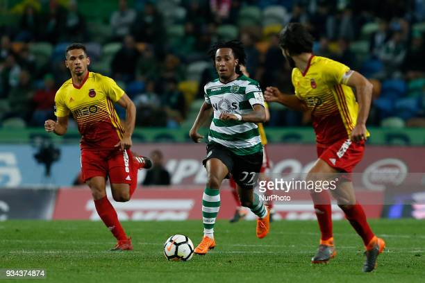 Sporting CP forward Gelson Martins from Portugal during Premier League 2017/18 match between Sporting CP and Rio Ave FC at Alvalade Stadium in Lisbon...
