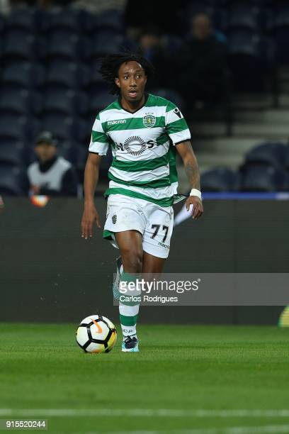 Sporting CP forward Gelson Martins from Portugal during the FC Porto v Sporting CP Taca de Portugal Semi Final Leg One at Estadio do Dragao on...