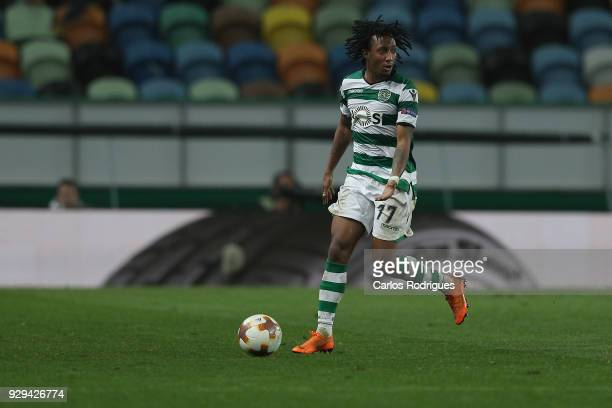 Sporting CP forward Gelson Martins from Portugal during the match between Sporting Lisbon CP v FC Viktoria Plzen for the UEFA Europa League Round of...