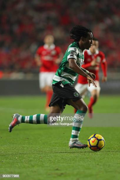 Sporting CP forward Gelson Martins from Portugal during the match between SL Benfica and Sporting CP for the Portuguese Primeira Liga at Estadio da...
