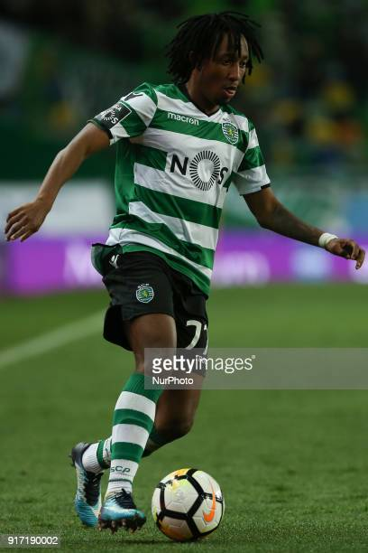Sporting CP forward Gelson Martins from Portugal during the Premier League 2017/18 match between Sporting CP and CD Feirense at Estadio Jose Alvalade...