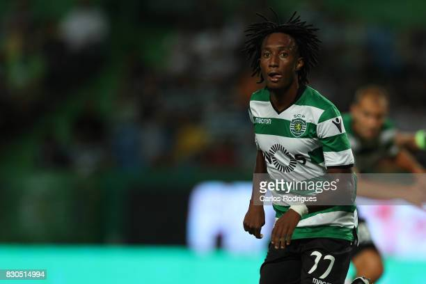 Sporting CP forward Gelson Martins from Portugal during the Portuguese Primeira Liga round two match between Sporting CP and Vitoria FC at Estadio...