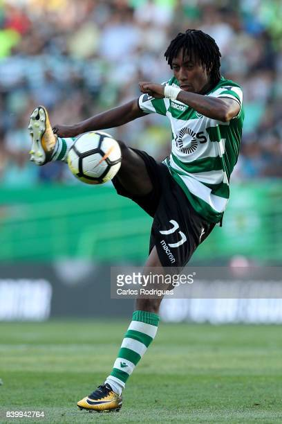 Sporting CP forward Gelson Martins from Portugal during the Portuguese Primeira Liga round four match between Sporting CP and Estoril Praia at...