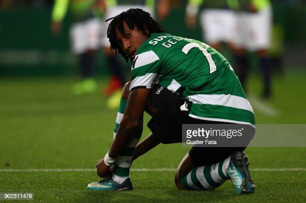 Sporting CP forward Gelson Martins from Portugal during the Primeira Liga match between Sporting CP and CS Maritimo at Estadio Jose Alvalade on...