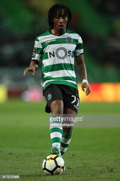 Sporting CP forward Gelson Martins from Portugal during the Portuguese Primeira Liga match between Sporting CP and CD Feirense at Estadio Jose...