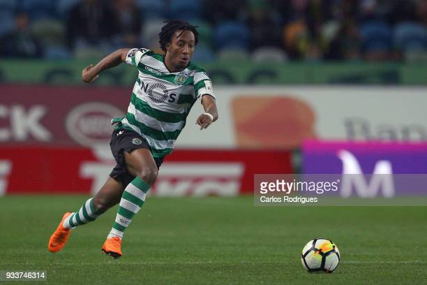Sporting CP forward Gelson Martins from Portugal during the Portuguese Primeira Liga match between Sporting CP and Rio Ave FC at Estadio Jose...