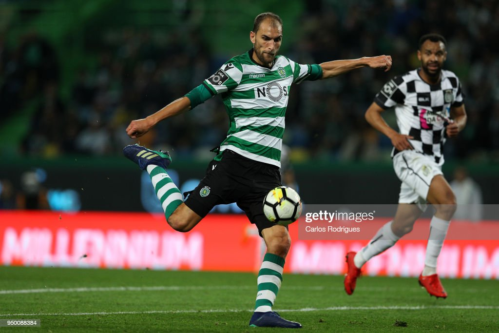 Sporting CP forward Gelson Martins from Portugal during the Portuguese Primeira Liga match between Sporting CP and Boavista FC at Estadio Jose Alvalade on April 22, 2018 in Lisbon, Lisboa.