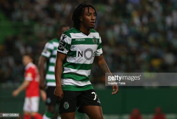 Sporting CP forward Gelson Martins from Portugal during the Primeira Liga match between Sporting CP and SL Benfica at Estadio Jose Alvalade on May 5...