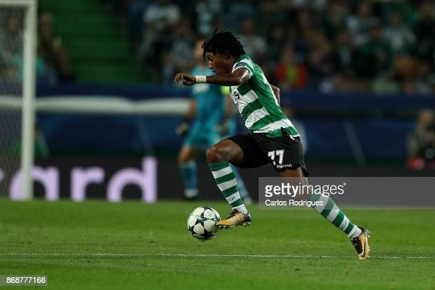 Sporting CP forward Gelson Martins from Portugal during the UEFA Champions League group D match between Sporting CP and Juventus FC at Estadio Jose...