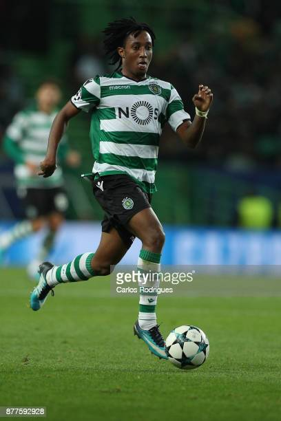 Sporting CP forward Gelson Martins from Portugal during the UEFA Champions League match between Sporting CP and Olympiakos Piraeus at Estadio Jose...