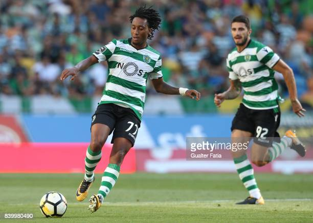 Sporting CP forward Gelson Martins from Portugal in action during the Primeira Liga match between Sporting CP and GD Estoril Praia at Estadio Jose...