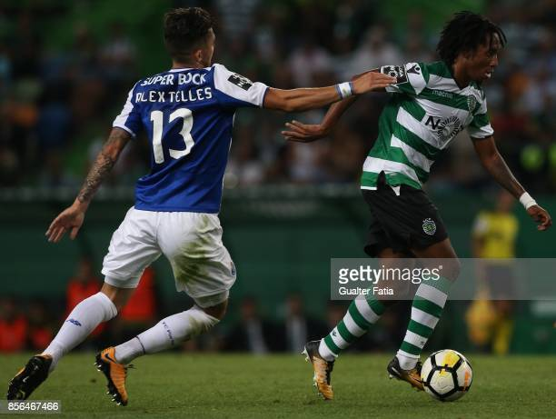 Sporting CP forward Gelson Martins from Portugal in action during the Primeira Liga match between Sporting CP and FC Porto at Estadio Jose Alvalade...