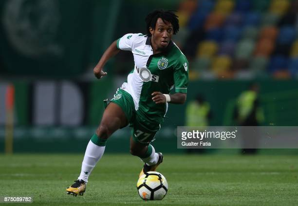 Sporting CP forward Gelson Martins from Portugal in action during the Portuguese Cup match between Sporting CP and FC Famalicao at Estadio Jose...