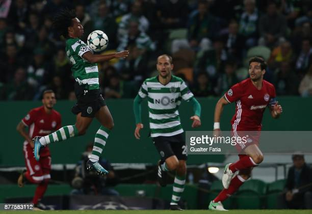 Sporting CP forward Gelson Martins from Portugal in action during the UEFA Champions League match between Sporting Clube de Portugal and Olympiakos...