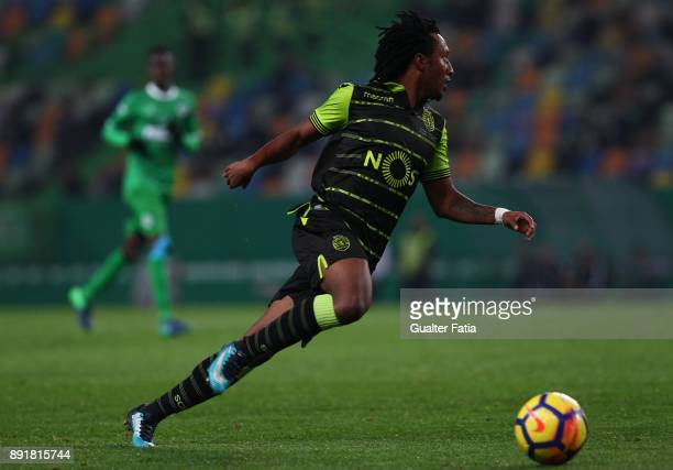 Sporting CP forward Gelson Martins from Portugal in action during the Portuguese Cup match between Sporting CP and Vilaverdense at Estadio Jose...
