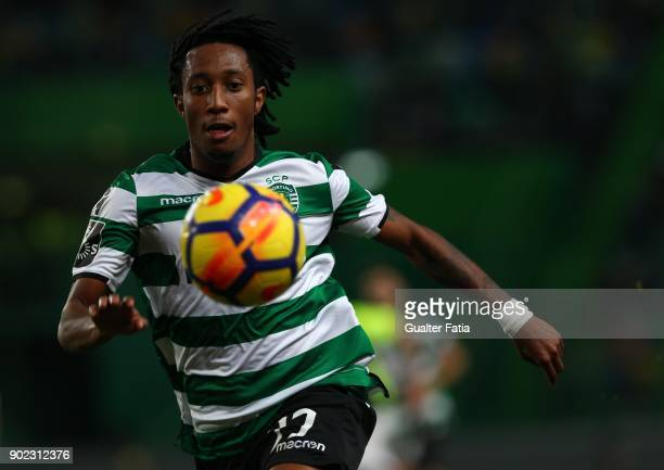 Sporting CP forward Gelson Martins from Portugal in action during the Primeira Liga match between Sporting CP and CS Maritimo at Estadio Jose...
