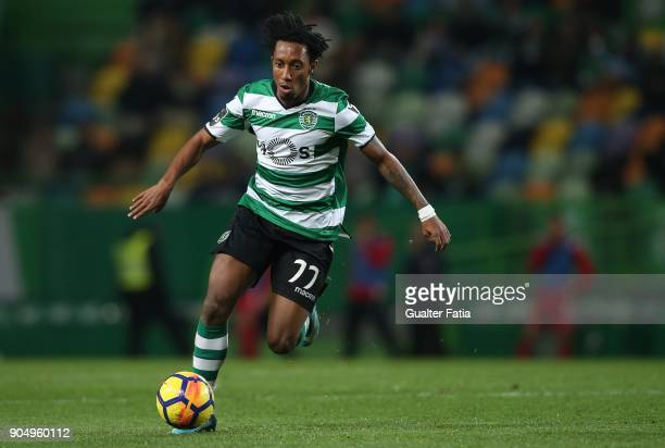 Sporting CP forward Gelson Martins from Portugal in action during the Primeira Liga match between Sporting CP and CD Aves at Estadio Jose Alvalade on...