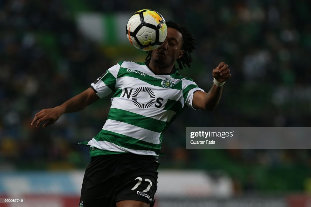 Sporting CP forward Gelson Martins from Portugal in action during the Primeira Liga match between Sporting CP and Boavista FC at Estadio Jose Alvalade on April 22, 2018 in Lisbon, Portugal.