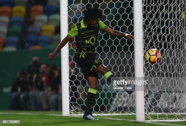 Sporting CP forward Gelson Martins from Portugal scores goal during the Portuguese Cup match between Sporting CP and Vilaverdense at Estadio Jose...