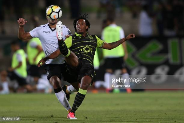 Sporting CP forward Gelson Martins from Portugal with Vitoria Guimaraes forward Joao Vigario from Portugal in action during PreSeason Friendly match...