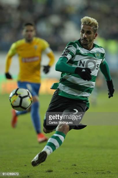 Sporting CP forward Ruben Ribeiro from Portugal during the match between GD Estoril Praia and Sporting CP for Portuguese Primeira Liga at Estadio...