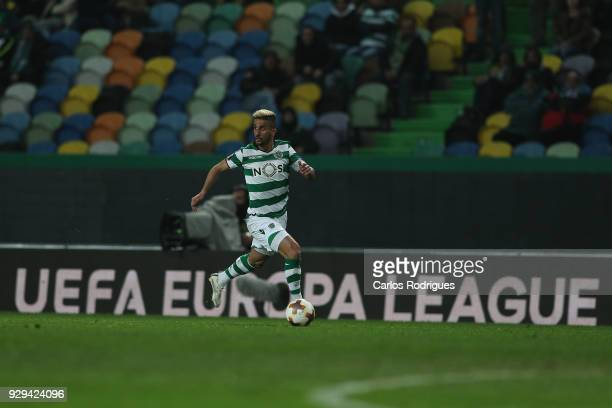 Sporting CP forward Ruben Ribeiro from Portugal during the match between Sporting Lisbon CP v FC Viktoria Plzen for the UEFA Europa League Round of...