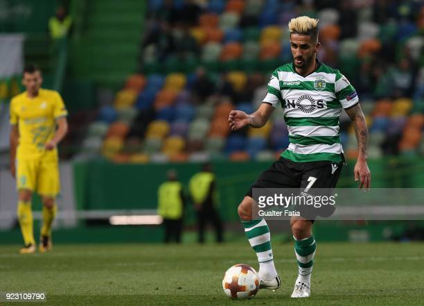 Sporting CP forward Ruben Ribeiro from Portugal in action during the UEFA Europa League match between Sporting CP and FC Astana at Estadio Jose...