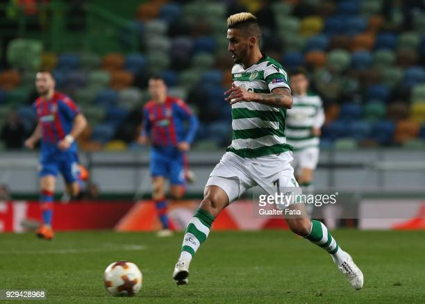 Sporting CP forward Ruben Ribeiro from Portugal in action during the UEFA Europa League Round of 16 First Leg match between Sporting CP and FC...