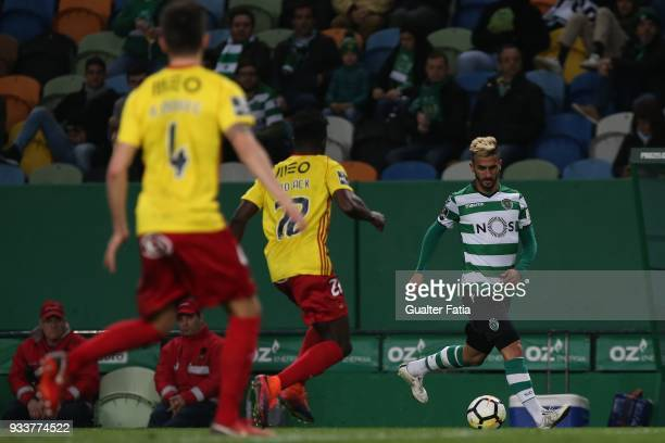 Sporting CP forward Ruben Ribeiro from Portugal in action during the Primeira Liga match between Sporting CP and Rio Ave FC at Estadio Jose Alvalade...