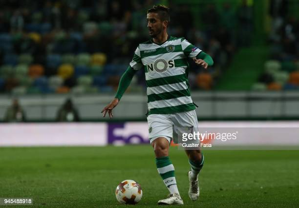 Sporting CP forward Ruben Ribeiro from Portugal in action during the UEFA Europa League Quarter Final Leg Two match between Sporting CP and Club...