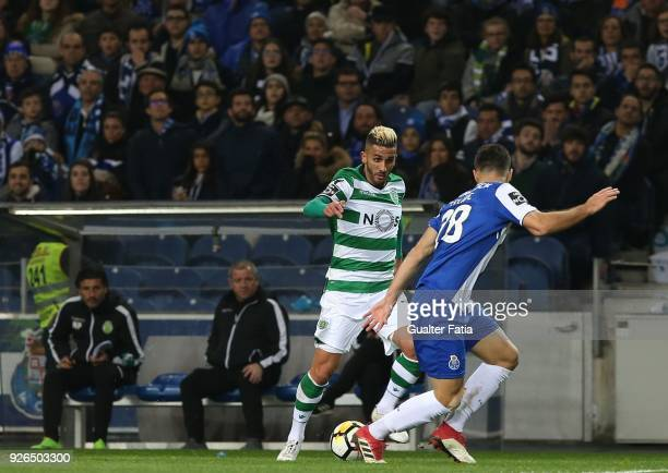 Sporting CP forward Ruben Ribeiro from Portugal with FC Porto defender Felipe from Brazil in action during the Primeira Liga match between FC Porto...