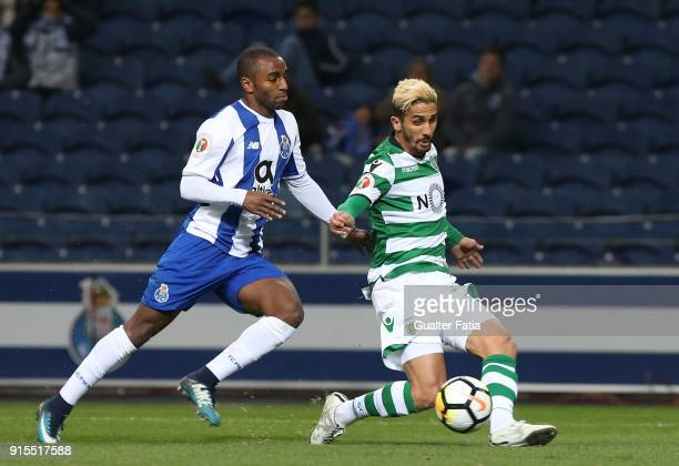 Sporting CP forward Ruben Ribeiro from Portugal with FC Porto defender Ricardo Pereira from Portugal in action during the Portuguese Cup Semi Final...