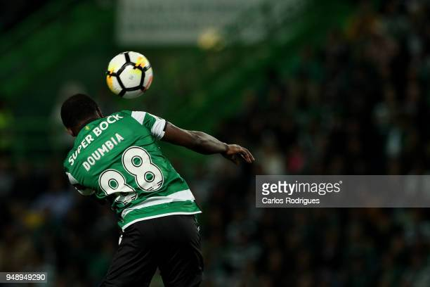 Sporting CP forward Seydou Doumbia from Ivory Coast during the Sporting CP v FC Porto Portuguese Cup semi finals 2 leg at Estadio Jose Alvalade on...