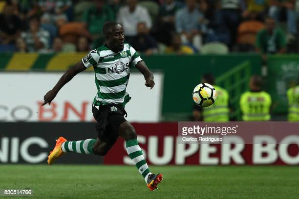 Sporting CP forward Seydou Doumbia from Ivory Coast during the Portuguese Primeira Liga round two match between Sporting CP and Vitoria FC at Estadio...
