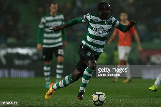 Sporting CP forward Seydou Doumbia from Ivory Coast during the Portuguese Primeira Liga match between Sporting CP and Moreirense FC at Estadio Jose...