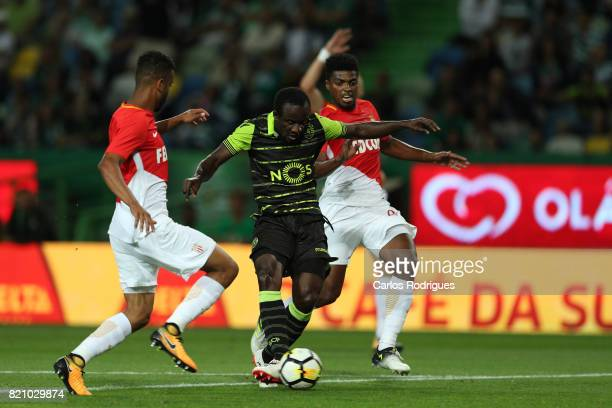 Sporting CP forward Seydou Doumbia from Ivory Coast during the Friendly match between Sporting CP and AS Monaco at Estadio Jose Alvalade on July 22...