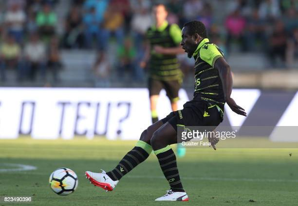 Sporting CP forward Seydou Doumbia from Ivory Coast in action during PreSeason Friendly match between Sporting CP and Vitoria Guimaraes at Estadio...