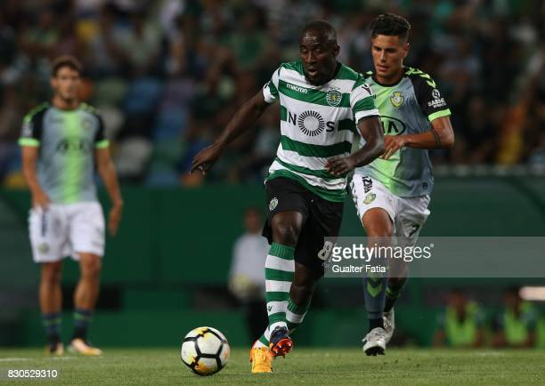 Sporting CP forward Seydou Doumbia from Ivory Coast in action during the Primeira Liga match between Sporting CP and Vitoria Setubal at Estadio Jose...