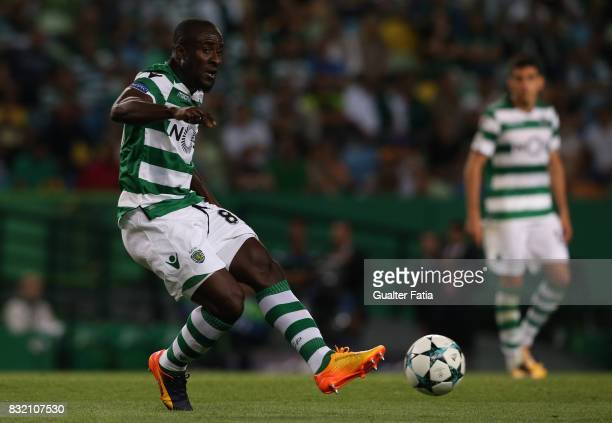Sporting CP forward Seydou Doumbia from Ivory Coast in action during the UEFA Champions League Qualifying PlayOffs Round First Leg match between...