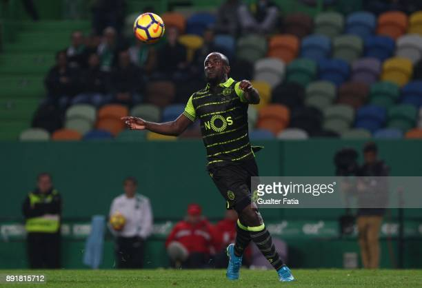 Sporting CP forward Seydou Doumbia from Ivory Coast in action during the Portuguese Cup match between Sporting CP and Vilaverdense at Estadio Jose...