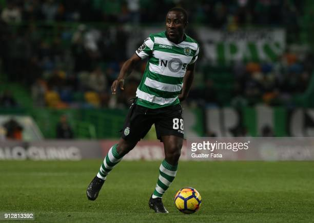 Sporting CP forward Seydou Doumbia from Ivory Coast in action during the Primeira Liga match between Sporting CP and Vitoria Guimaraes at Estadio...