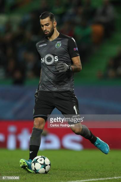 Sporting CP goalkeeper Rui Patricio from Portugal during the UEFA Champions League match between Sporting CP and Olympiakos Piraeus at Estadio Jose...