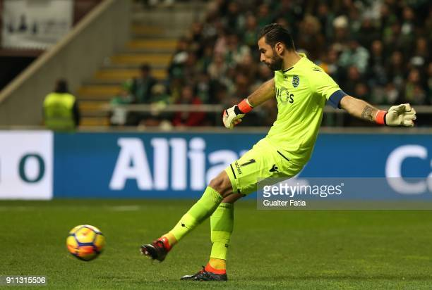 Sporting CP goalkeeper Rui Patricio from Portugal in action during the Portuguese League Cup Final match between Vitoria de Setubal and Sporting CP...