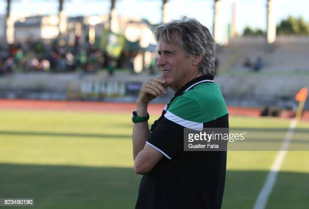 Sporting CP head coach Jorge Jesus from Portugal before the start of the PreSeason Friendly match between Sporting CP and Vitoria Guimaraes at...