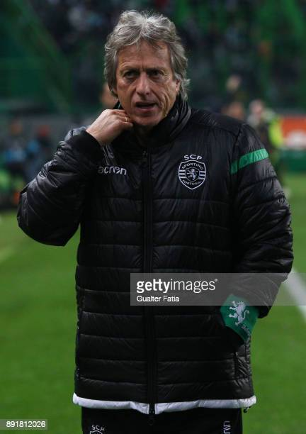 Sporting CP head coach Jorge Jesus from Portugal before the start of the Portuguese Cup match between Sporting CP and Vilaverdense at Estadio Jose...