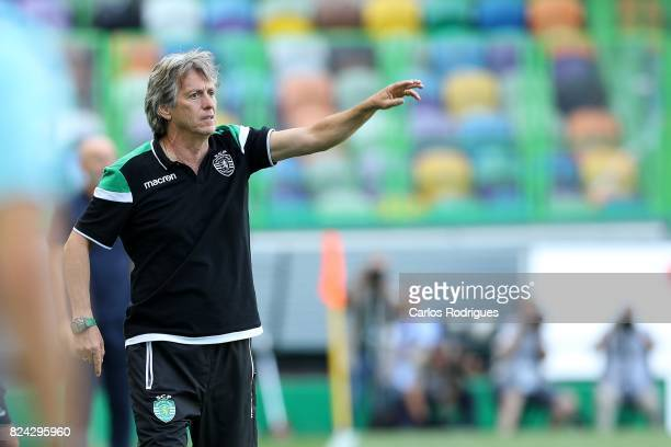 Sporting CP head coach Jorge Jesus from Portugal during the Five Violins Trophy match between Sporting CP and AC Fiorentina at Estadio Jose Alvalade...