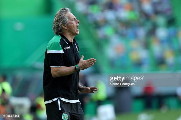Sporting CP head coach Jorge Jesus from Portugal during the Friendly match between Sporting CP and AS Monaco at Estadio Jose Alvalade on July 22 2017...